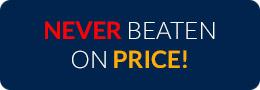 Never beaten on price